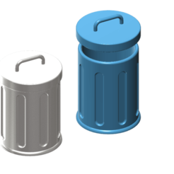 Download free STL files trash can 1/10, wavelog