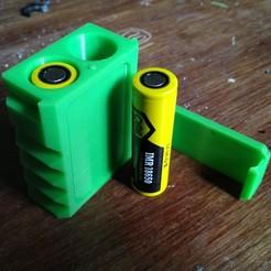 Imprimir en 3D gratis Caja de la batería 18650, wavelog