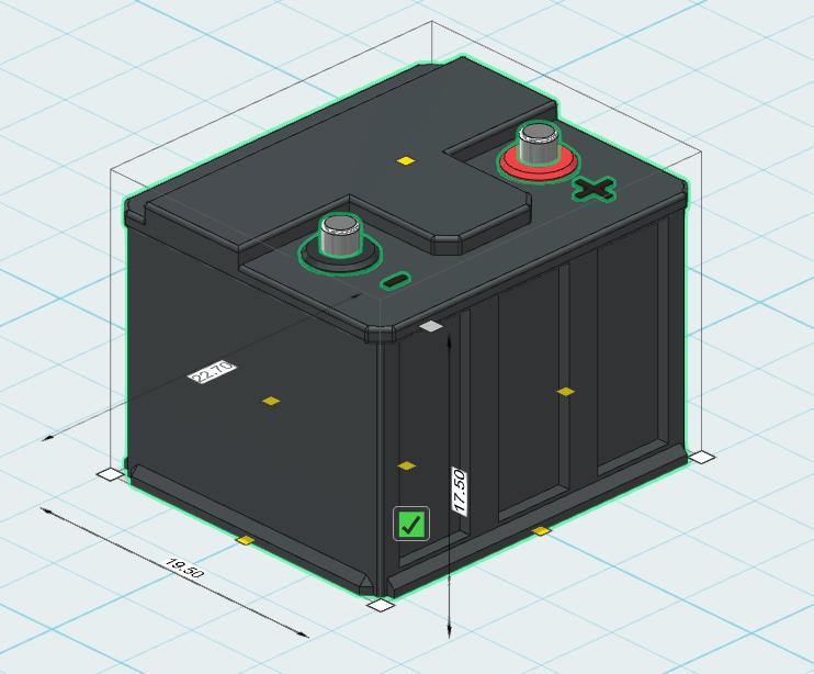 battery.png Download free STL file battery 1/10 • 3D printable design, wavelog
