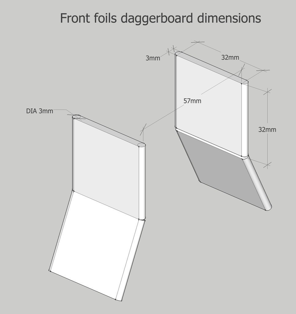 front_foils_daggerboard_housing_display_large.jpg Download free STL file RC hydrofoil • 3D printing object, Fydroy