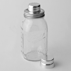 Free STL files Mason Jar Cocktail Shaker, Fydroy
