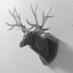 44ac539a2a1a514127ffcf7df6bf07f2_display_large.jpg Download free STL file 3D Puzzle Deer Head Fridge Magnet • 3D print model, Fydroy