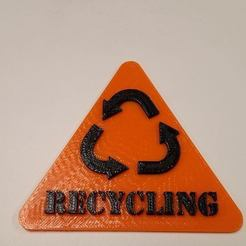 Free STL Recycling Sign, Fydroy