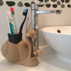STL pencil pot, toothbrush pot, snail, Imagin