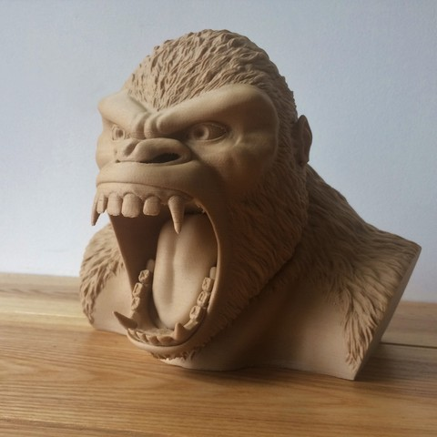 Download 3D printing files Gorilla piggy bank, Imagin