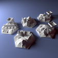 Free 3D printer model Custom city tile set for Terraforming Mars - Cities 6-10, Rayjunx