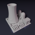 Download free 3D printer designs Nuclear power plant - Building - For board games like Monsterpocalypse, Rayjunx