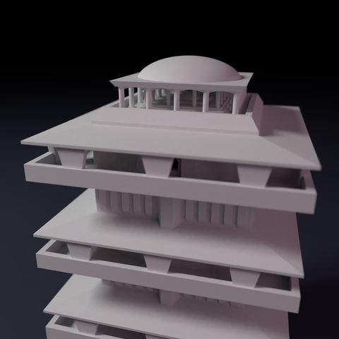 Downtown-highrise-3.png Download STL file Downtown highrise - Building - For board games like Monsterpocalypse • 3D printable design, Rayjunx