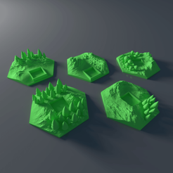 3D printing model Custom forrest tile set for Terraforming Mars - Forrest 11-15, Rayjunx