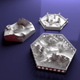 Free 3D print files Custom special tile set for Terraforming Mars - special tiles nr 4-6, Rayjunx