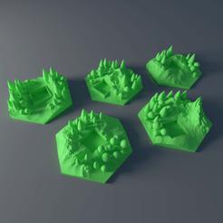 Descargar diseños 3D gratis Juego de azulejos y baldosas forestales a medida para Terraforming Mars - Forrest 1-5, Rayjunx