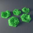 Download free 3D printer designs Custom forest tile set for Terraforming Mars - Forrest 1-5, Rayjunx