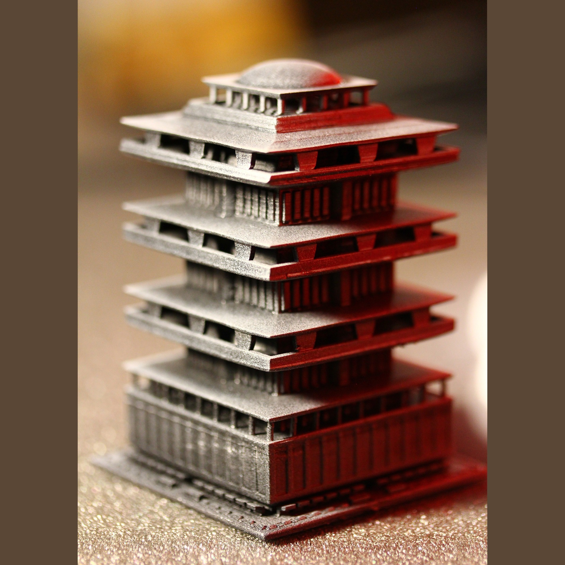 Downtown-highrise-4.JPG Download STL file Downtown highrise - Building - For board games like Monsterpocalypse • 3D printable design, Rayjunx