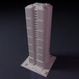 Impresiones 3D gratis Rascacielos - Edificio - Para juegos de mesa como Monsterpocalypse, Rayjunx