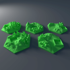 Download 3D printer model Custom forrest tile set for Terraforming Mars - Forrest 6-10, Rayjunx