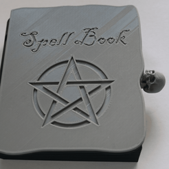Download free 3D printer model Halloween 'Spell Book' Box or themed 'Jack-in-the-box', Sigma3D