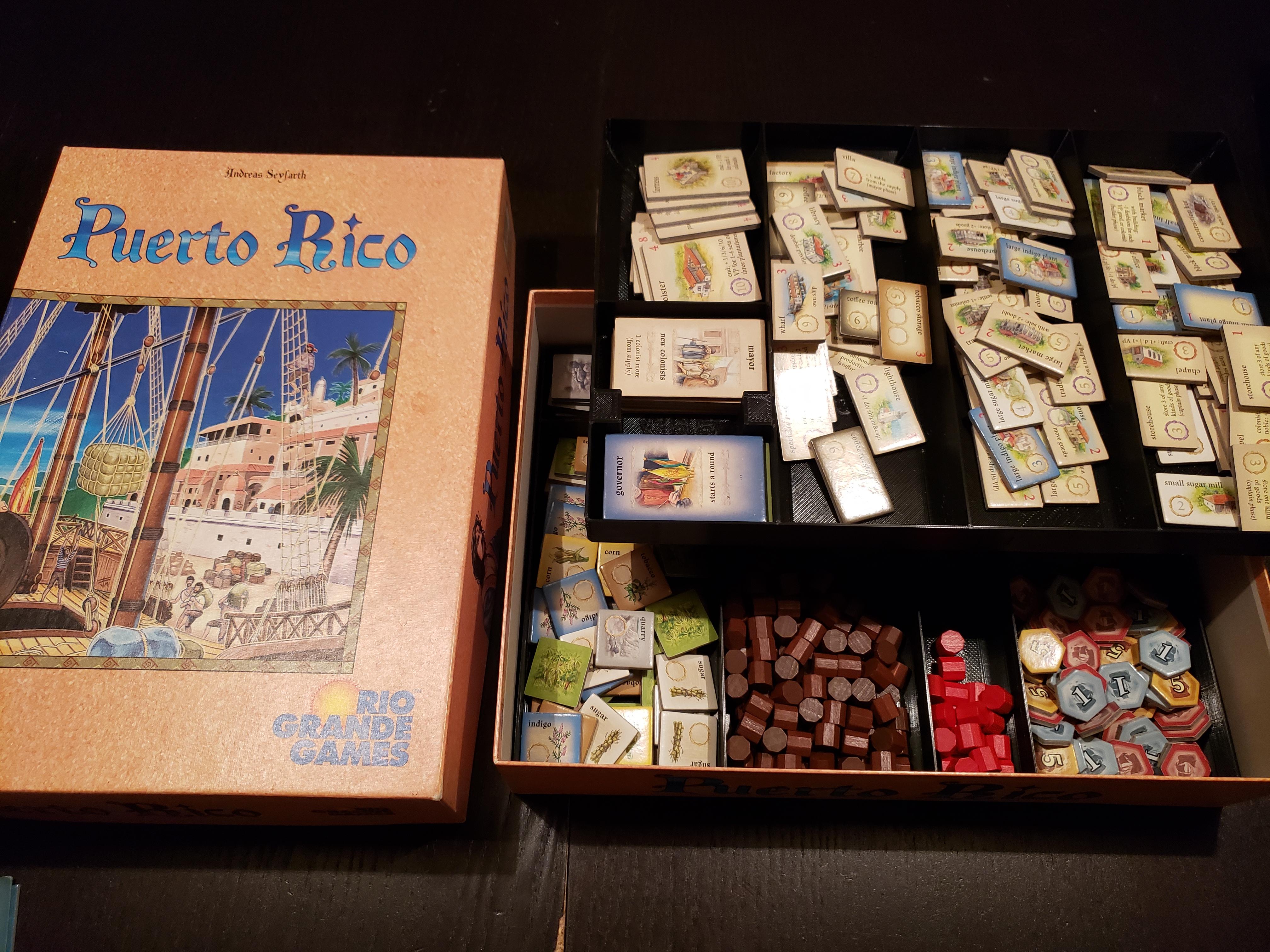 PR Image.jpg Télécharger fichier STL gratuit Puerto Rico - encart et organisateur de jeux de société • Plan à imprimer en 3D, danielbeaver