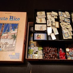 Download free STL Puerto Rico board game insert and organizer, danielbeaver