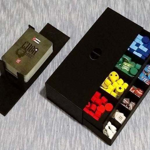 123.jpg Télécharger fichier STL gratuit Cuba Libre - Encart et organisateur de jeux de société • Plan pour impression 3D, danielbeaver