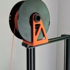 Descargar modelos 3D gratis Portabobinas con ranura en V superior CR-10, danielbeaver