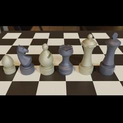 untitled.jpg Download 3MF file 3d Printable Chubby Chess Set OBJ 3MF 3D model • 3D printable design, GuillermoMX