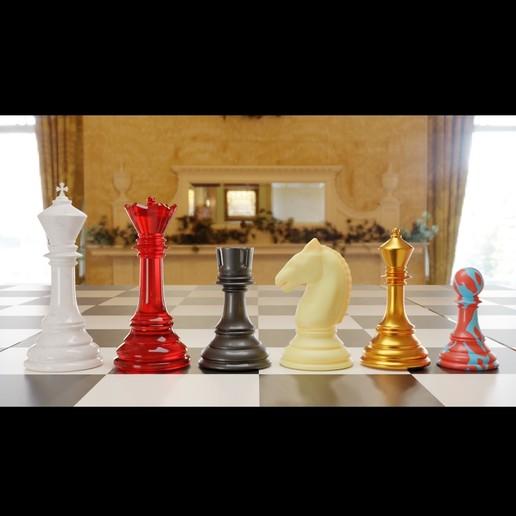 stautonchess.jpg Télécharger fichier 3MF gratuit Jeu d'échecs classique Modèle 3D imprimable • Modèle pour impression 3D, GuillermoMX
