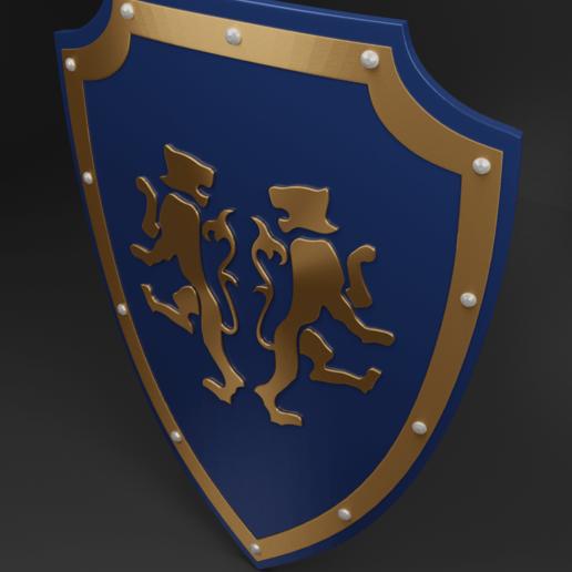 tiger shield 4.png Download free 3MF file Medieval Two Tiger Emblem Shield Free 3D model • 3D printer model, GuillermoMX