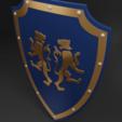 tiger shield 4.png Télécharger fichier 3MF gratuit Bouclier médiéval à deux emblèmes de tigre - modèle 3D gratuit • Design à imprimer en 3D, GuillermoMX