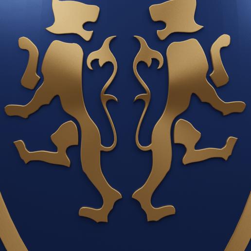tiger shield 5.png Télécharger fichier 3MF gratuit Bouclier médiéval à deux emblèmes de tigre - modèle 3D gratuit • Design à imprimer en 3D, GuillermoMX