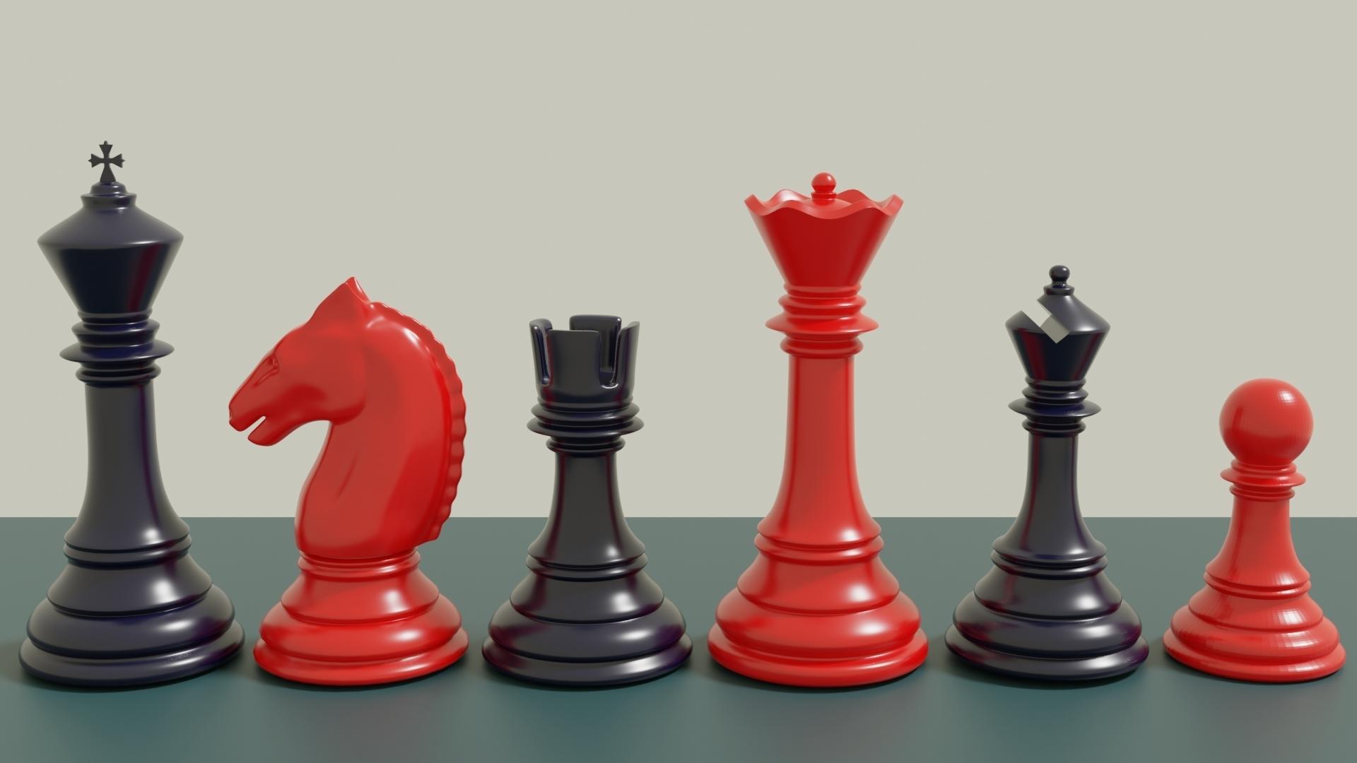 stauton chess.jpg Télécharger fichier 3MF gratuit Jeu d'échecs classique Modèle 3D imprimable • Modèle pour impression 3D, GuillermoMX