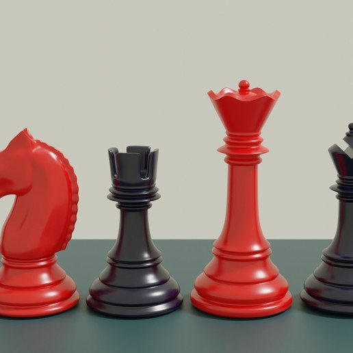 Download free 3D printing files Classic Chess Set Printable 3D print model, GuillermoMX