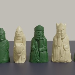 Download 3D print files 3D printable Medieval Chess Set Pieces, GuillermoMX