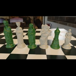 Download 3MF file Renaissance Chess 3d print model Obj 3MF • Model to 3D print, GuillermoMX