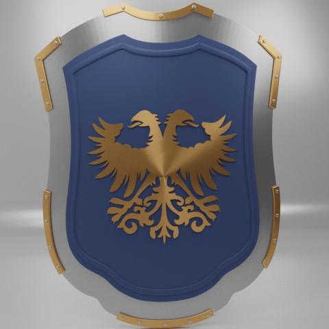 eagle shield2.png Download free 3MF file Medieval Eagle Emblem Shield 3d model • 3D print model, GuillermoMX