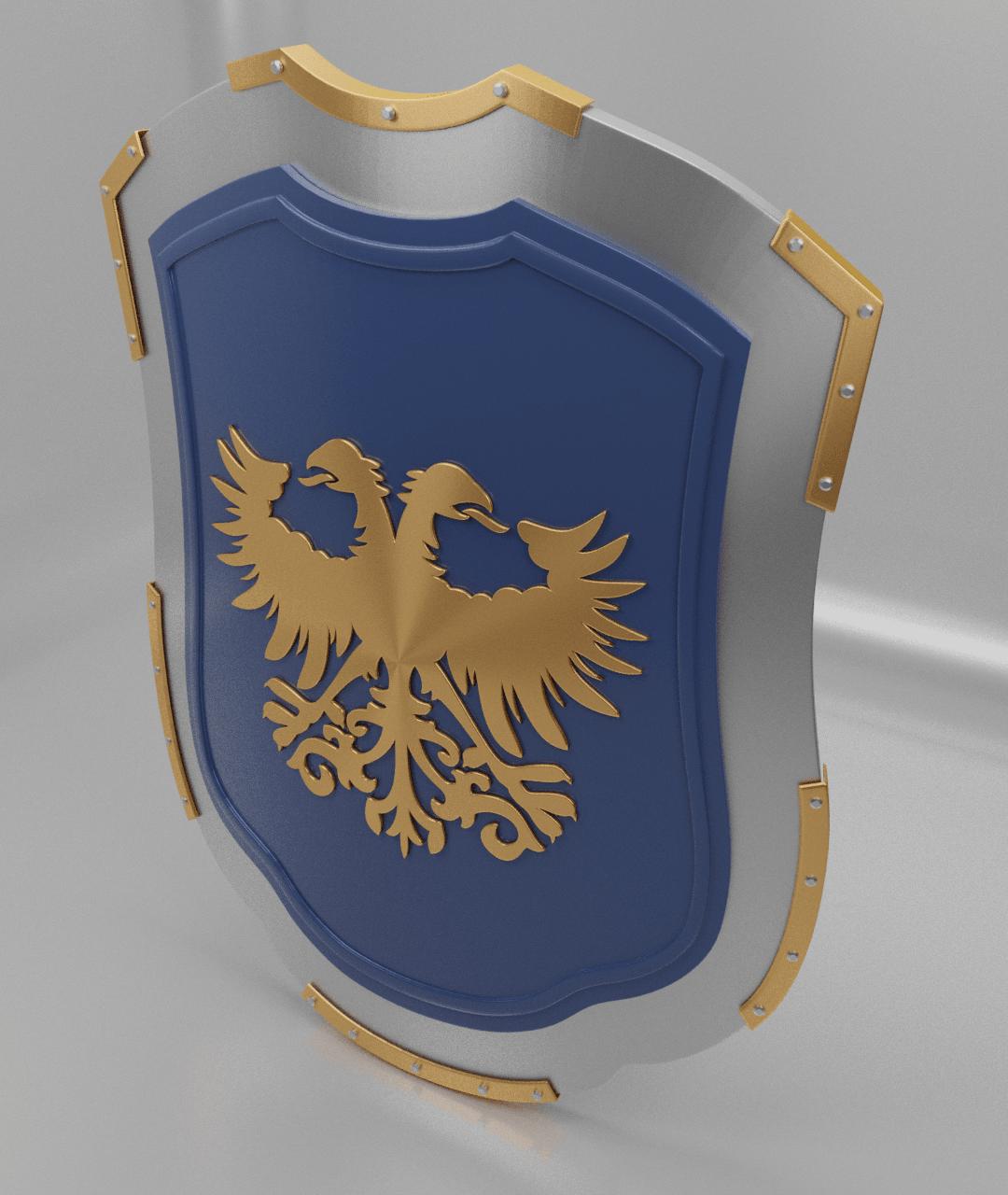 eagle shield1.png Download free 3MF file Medieval Eagle Emblem Shield 3d model • 3D print model, GuillermoMX