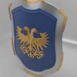 Download free 3MF file Medieval Eagle Emblem Shield 3d model • 3D print model, GuillermoMX