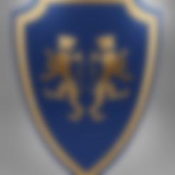 tigre ready.obj Télécharger fichier 3MF gratuit Bouclier médiéval à deux emblèmes de tigre - modèle 3D gratuit • Design à imprimer en 3D, GuillermoMX