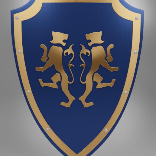 tiger shield 3.png Télécharger fichier 3MF gratuit Bouclier médiéval à deux emblèmes de tigre - modèle 3D gratuit • Design à imprimer en 3D, GuillermoMX