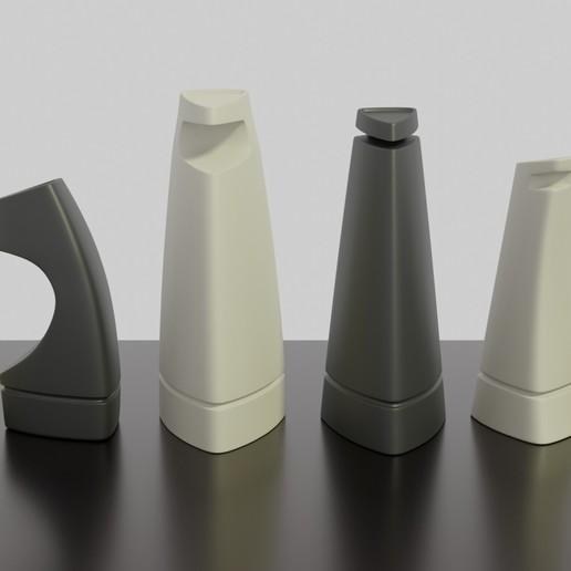 Download 3D printer files 3d Printable Modern Chess Set STL OBJ 3MF 3D print model, GuillermoMX