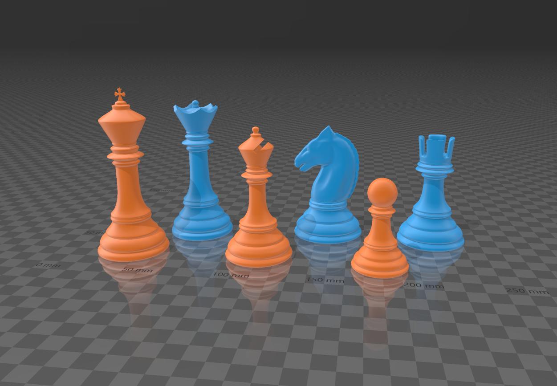 2019-09-05 (1).png Télécharger fichier 3MF gratuit Jeu d'échecs classique Modèle 3D imprimable • Modèle pour impression 3D, GuillermoMX