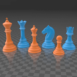 Descargar archivos STL Classic Chess Set Printable 3D print model, bodisatva3