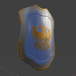 Descargar modelos 3D Medieval Eagle Emblem Shield 3d model, bodisatva3