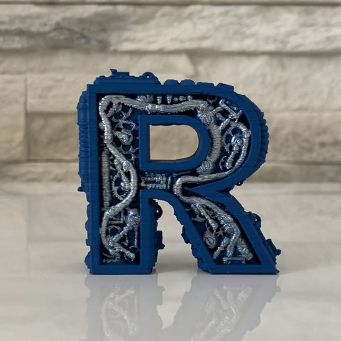 STL files STEAMPUNK LETTER R., pierinocamillone