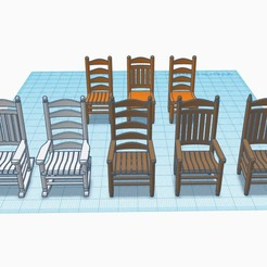Download free STL file Country Chair Collection, thebridge