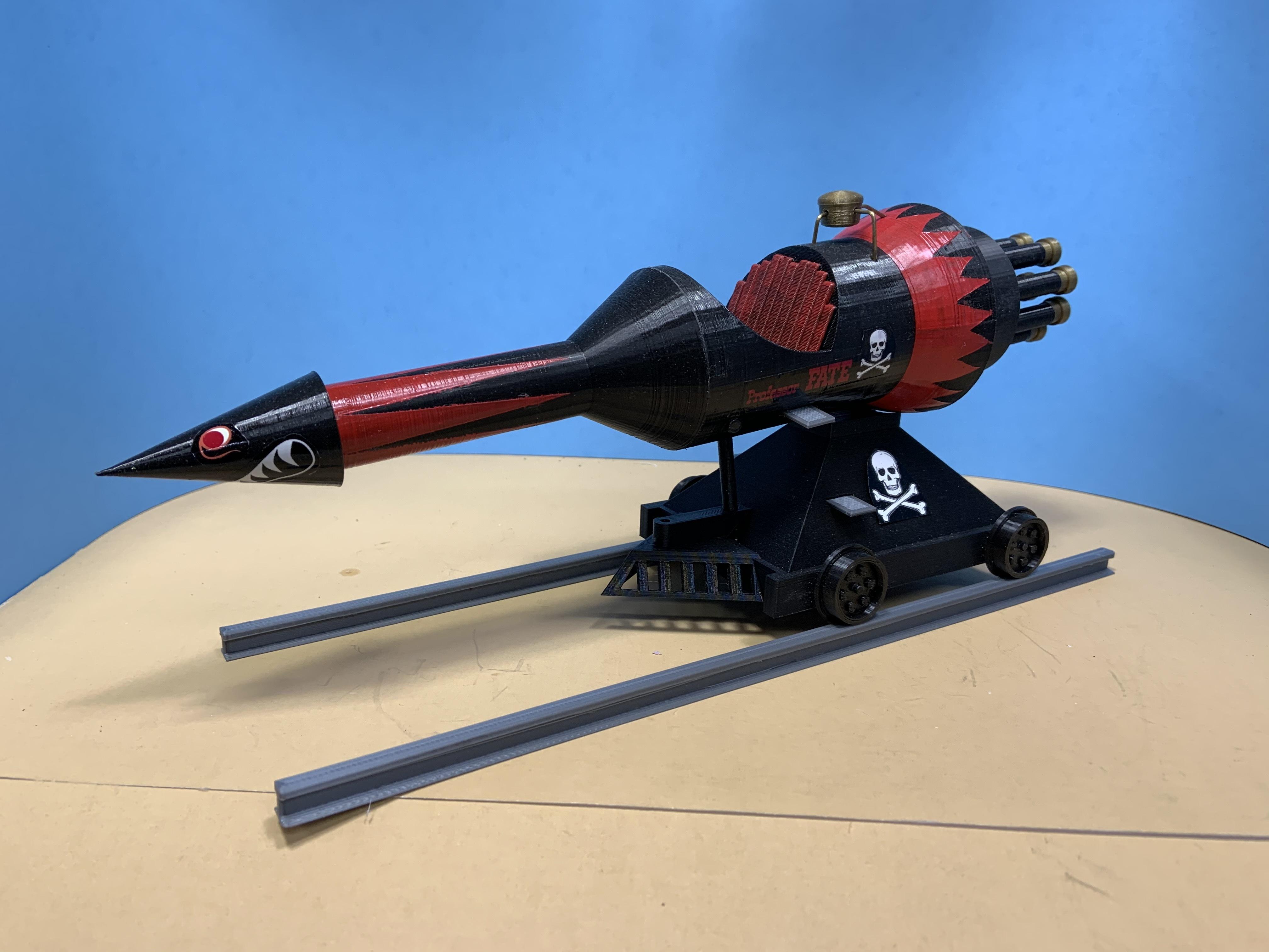 IMG_2404.JPG Download STL file Professor Fate's Rocket Car (The Great Race) • 3D print object, thebridge