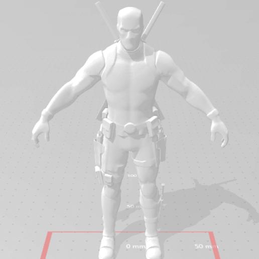 Deadpool mask.png Download free STL file DeadPool Fortnite • 3D printer template, devilmayplay