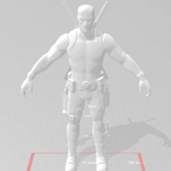 Download free STL file DeadPool Fortnite • 3D printer template, devilmayplay