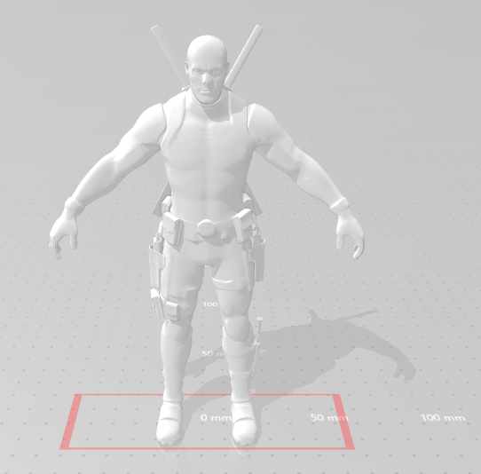 Deadpool NO mask.png Download free STL file DeadPool Fortnite • 3D printer template, devilmayplay