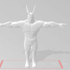 Descargar modelo 3D gratis All might Boku no hero, devilmayplay