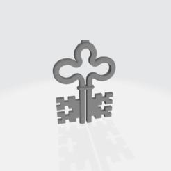 Nidwaldener Schlüssel liegend.png Télécharger fichier STL gratuit Wappenschlüsse des Kanton Nidwald • Plan pour imprimante 3D, zumit